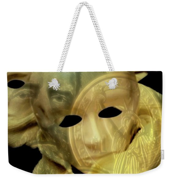 The Face Of Greed Weekender Tote Bag