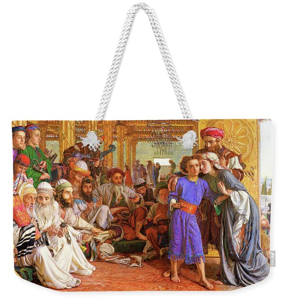 The Finding Of The Saviour In The Temple - Digital Remastered Edition Weekender Tote Bag