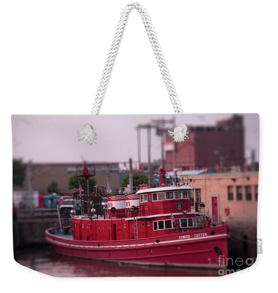 The Fireboat Edward M. Cotter. Weekender Tote Bag