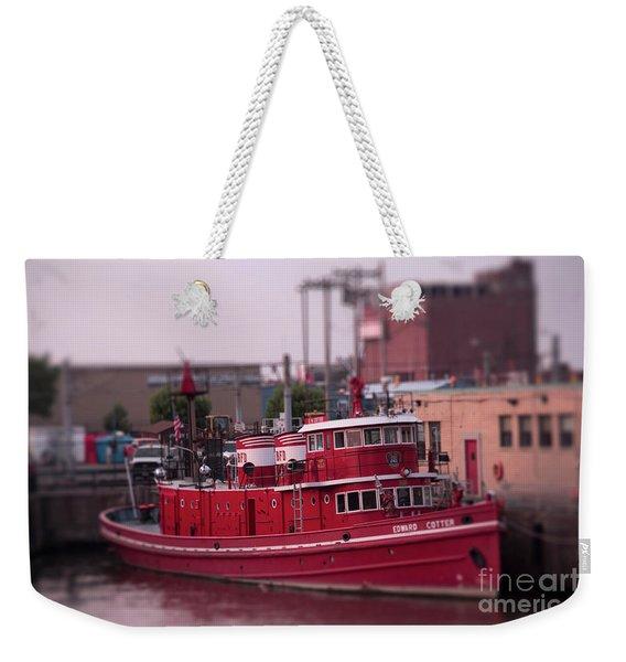 The Fireboat Edward M. Cotter. Weekender Tote Bag