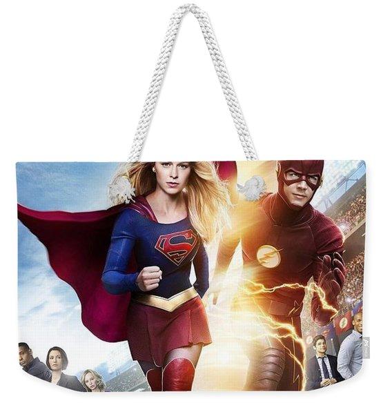 The Flash E Supergirl Weekender Tote Bag