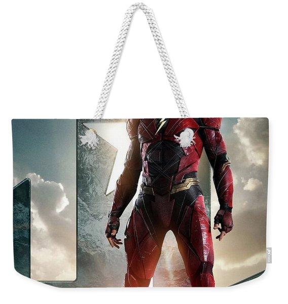 The Flash Justice League Weekender Tote Bag