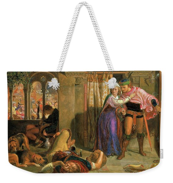 The Flight Of Madeline And Porphyro During The Drunkenness Attending The Revelry, 1857 Weekender Tote Bag