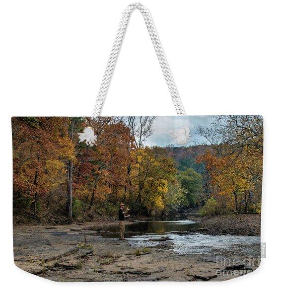 The Flyfisherman Weekender Tote Bag