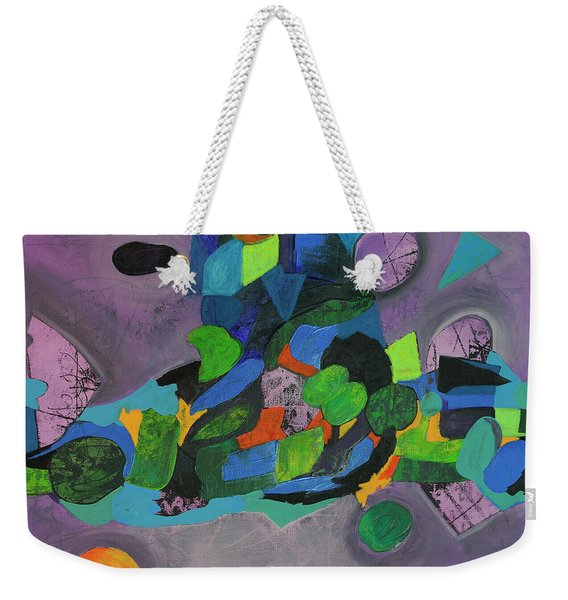 Weekender Tote Bag featuring the painting The Force Of Nature by Mark Jordan