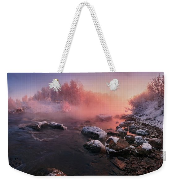 The Fragment Of Frosty Morning Weekender Tote Bag