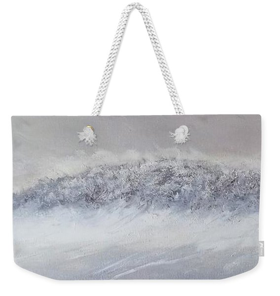 The Front Of Cold Weekender Tote Bag