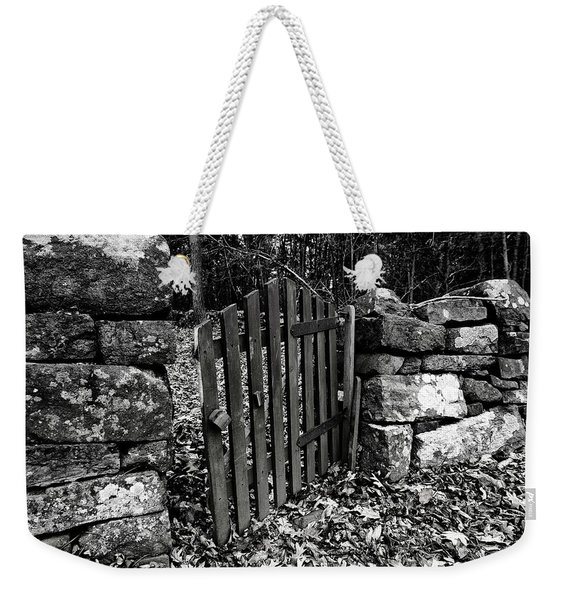Weekender Tote Bag featuring the photograph The Garden Entrance by Mark Jordan
