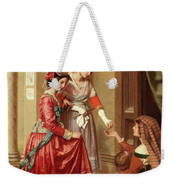 The Giving Of Alms Weekender Tote Bag