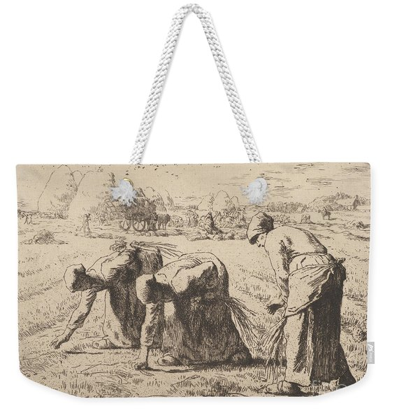 The Gleaners  Etching By Millet Weekender Tote Bag