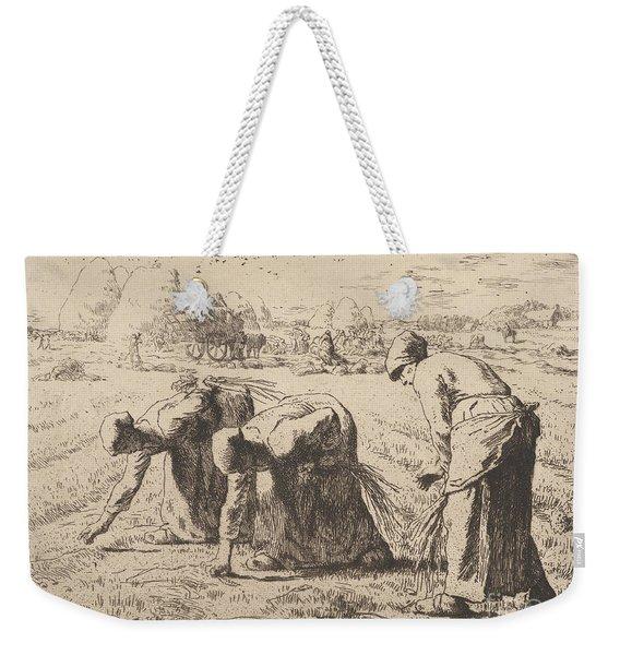 The Gleaners  Etching By Millet Weekender Tote Bag
