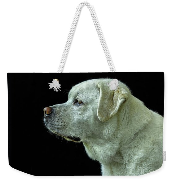 The Good Boy-labrador Retriever Portrait Weekender Tote Bag