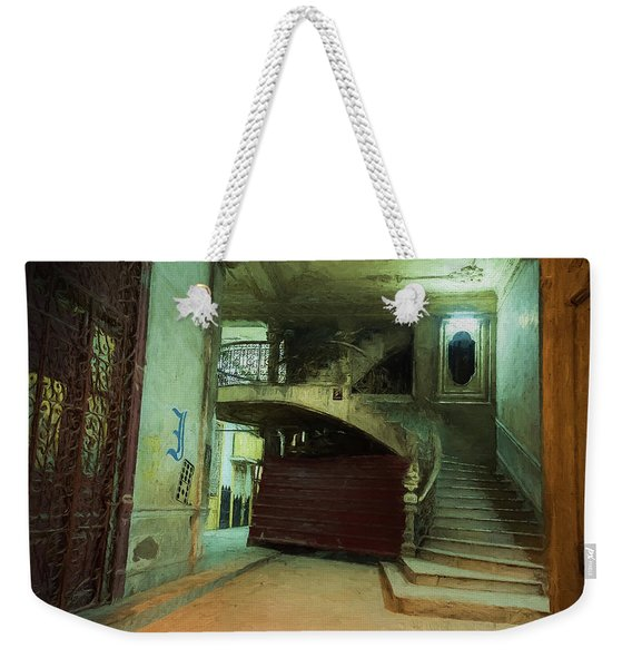 Weekender Tote Bag featuring the photograph The Grand Entrance by Robin Zygelman