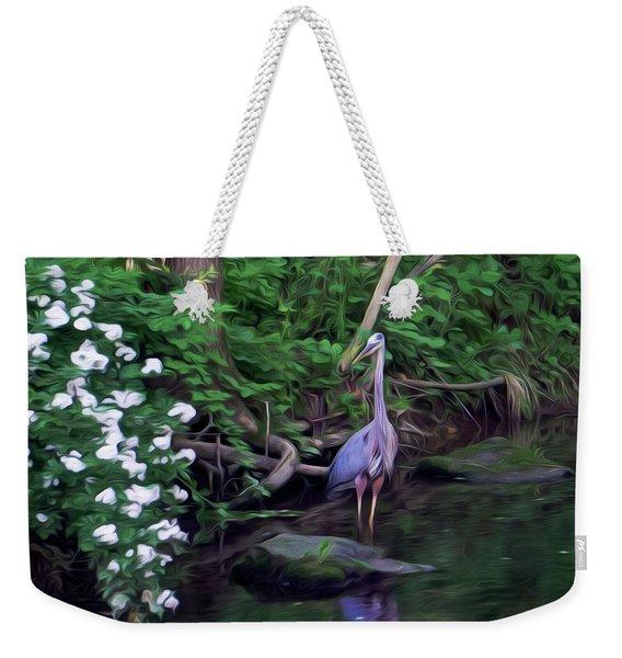 The Great Blue Heron - Impressionism Weekender Tote Bag
