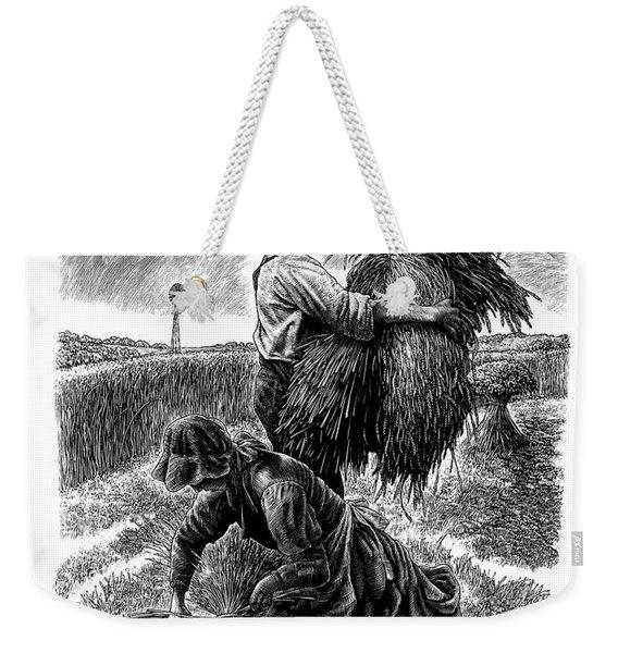 The Harvesters - Bw Weekender Tote Bag