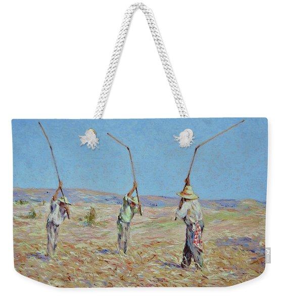 The Haymakers - Pierre Van Dijk 70x90cm Oil Weekender Tote Bag
