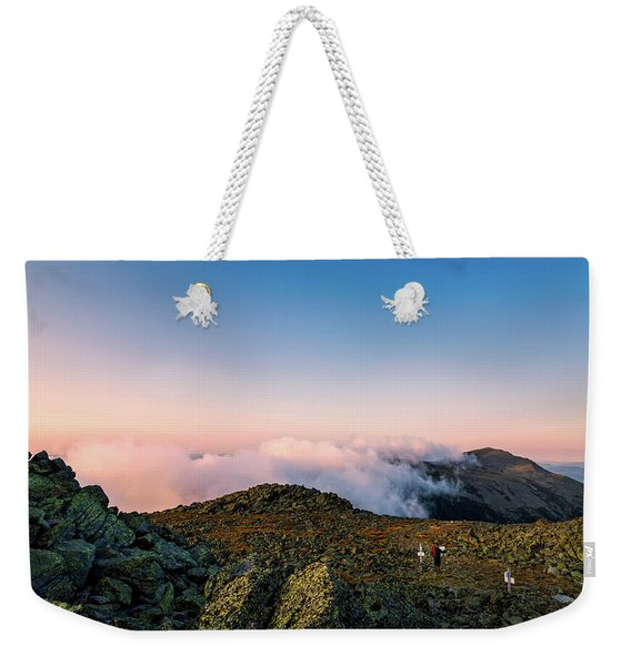 Weekender Tote Bag featuring the photograph The Hiker - Mt Jefferson, Nh by Jeff Sinon
