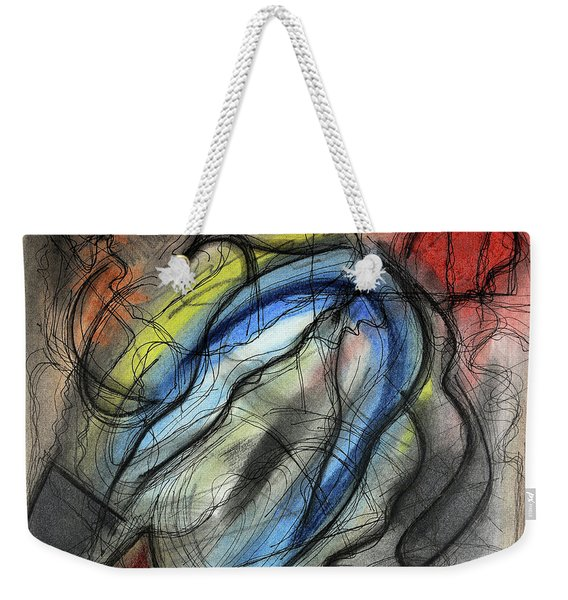 Weekender Tote Bag featuring the pastel The Hump by Mark Jordan