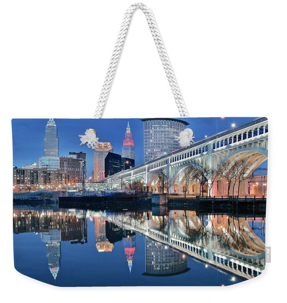 The Iconic Cle View Weekender Tote Bag