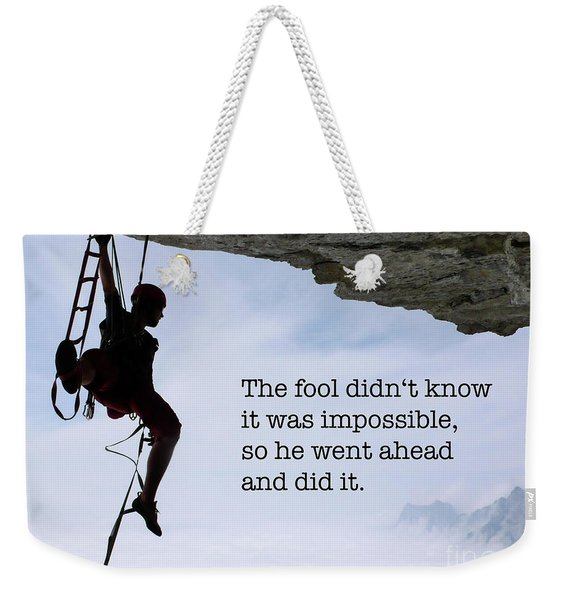 The Impossible I Weekender Tote Bag