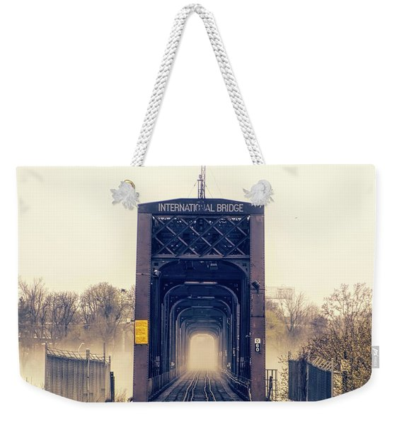 The Internation Railroad Bridge Weekender Tote Bag