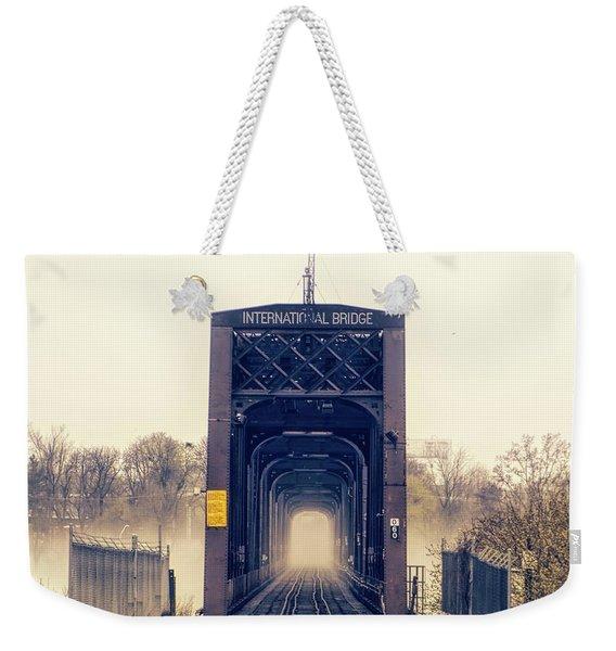 The Internation Railroad Bridge Weekender Tote Bag