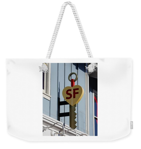 The Key To San Francisco Weekender Tote Bag