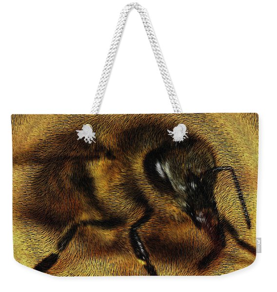 Weekender Tote Bag featuring the digital art The Killer Bee by ISAW Company