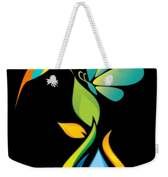 The Kissing Flower And The Butterfly On Flower Bud Weekender Tote Bag