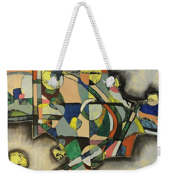 Weekender Tote Bag featuring the painting The Life Of Turf by Mark Jordan