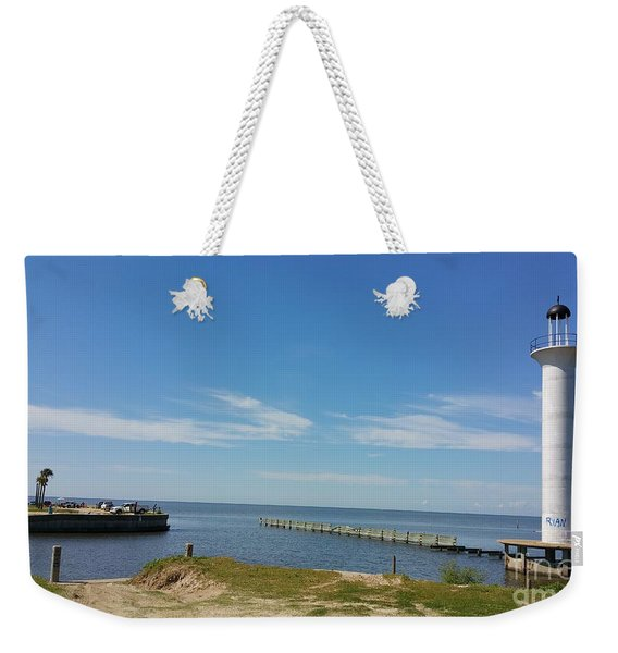 The Lighthouse Biloxi Ms Weekender Tote Bag
