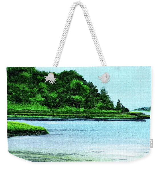The Little River Gloucester, Ma Weekender Tote Bag