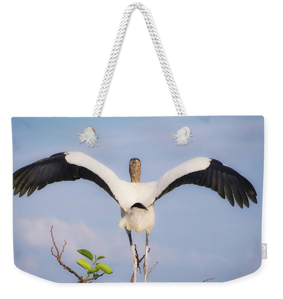 Weekender Tote Bag featuring the photograph The Maestro by Robin Zygelman