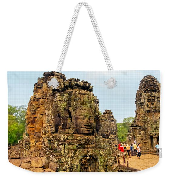 The Many Faces At Bayon Temple, Angkor, Cambodia Weekender Tote Bag