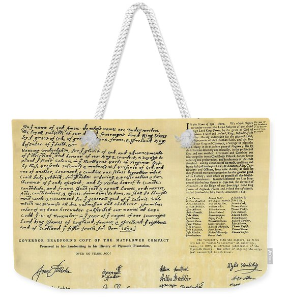 The Mayflower Compact  Weekender Tote Bag