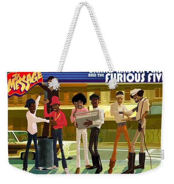 Weekender Tote Bag featuring the digital art The Message by Nelson  Dedos Garcia