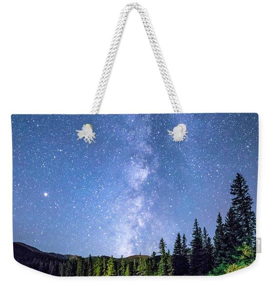The Milky Way Over Echo Lake Weekender Tote Bag
