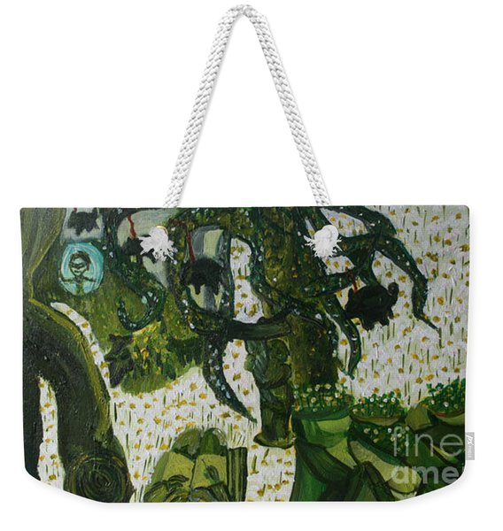 The Moth And The Caterpiller Weekender Tote Bag