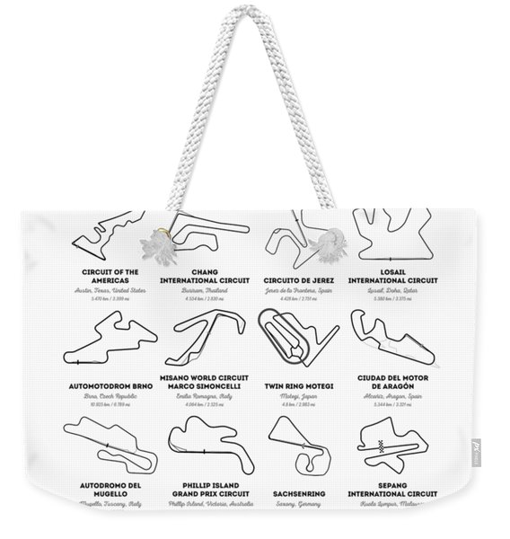 The Motogp Circuits Weekender Tote Bag