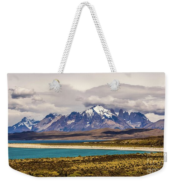 The Mountains Of Torres Del Paine National Park, Chile Weekender Tote Bag