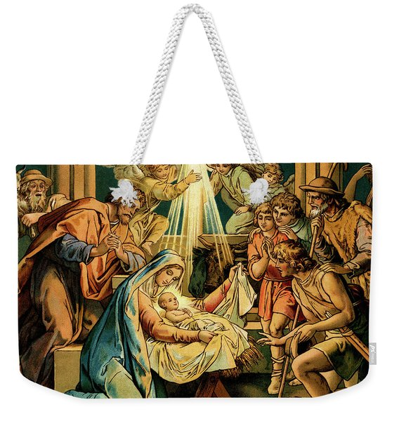 The Nativity, Madonna And Child, New Testament Weekender Tote Bag