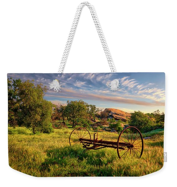 The Old Hay Rake Weekender Tote Bag