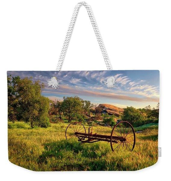 The Old Hay Rake Weekender Tote Bag