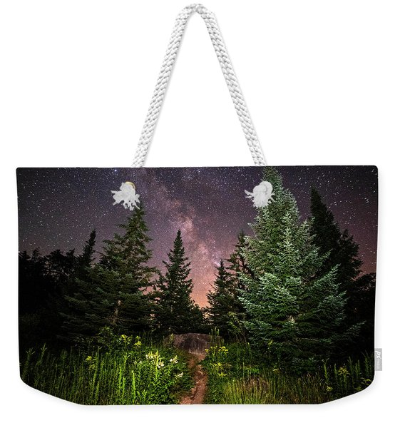 The Path To The Milky Way In Albany New Hampshire Weekender Tote Bag