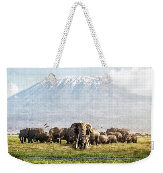 The Patriarch Of Amboseli Weekender Tote Bag