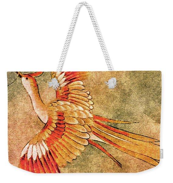 The Peahen's Gift - Kimono Series Weekender Tote Bag