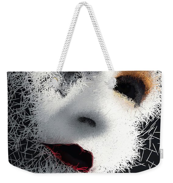 Weekender Tote Bag featuring the digital art The Phantom Of The Arts by ISAW Company