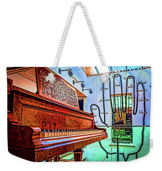 The Piano And The Hand Weekender Tote Bag