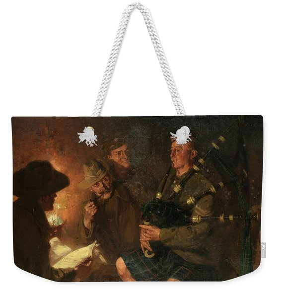 The Pipes By Firelight Weekender Tote Bag