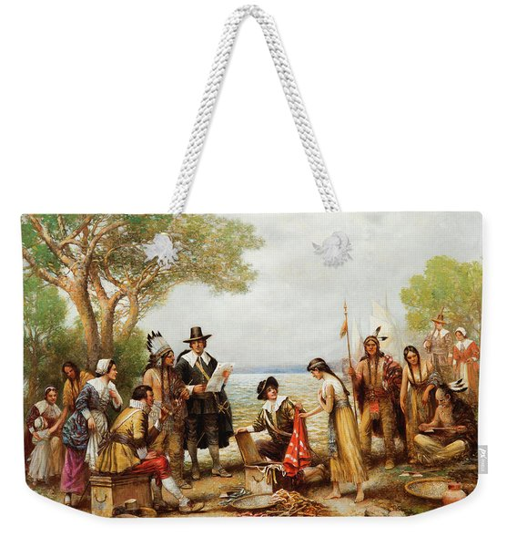 The Purchase Of Manhattan Weekender Tote Bag